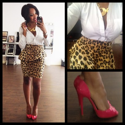 bcbg-max-azria-shirt-and-christian-louboutin-heels-and-zara-skirt