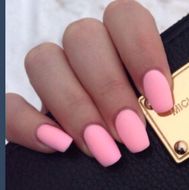 Pink Matte Nails - blackgirlish.com