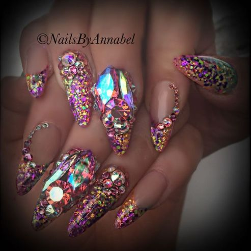 Bling Nails - Designs - blackgirlish.com