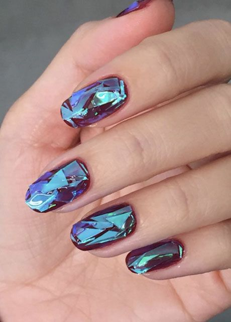 Shattered Glass Nails - Nail Designs- blackgirlish.com