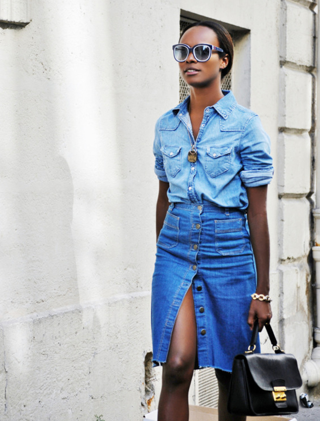 double-denim-pencil-skirt