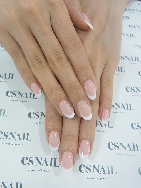 classic wedding nails