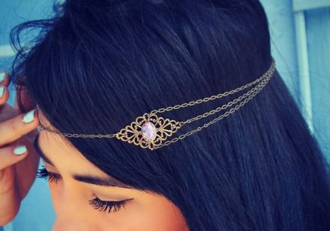 Gold Head Chain - Crown - Hair - blackgirlish.com
