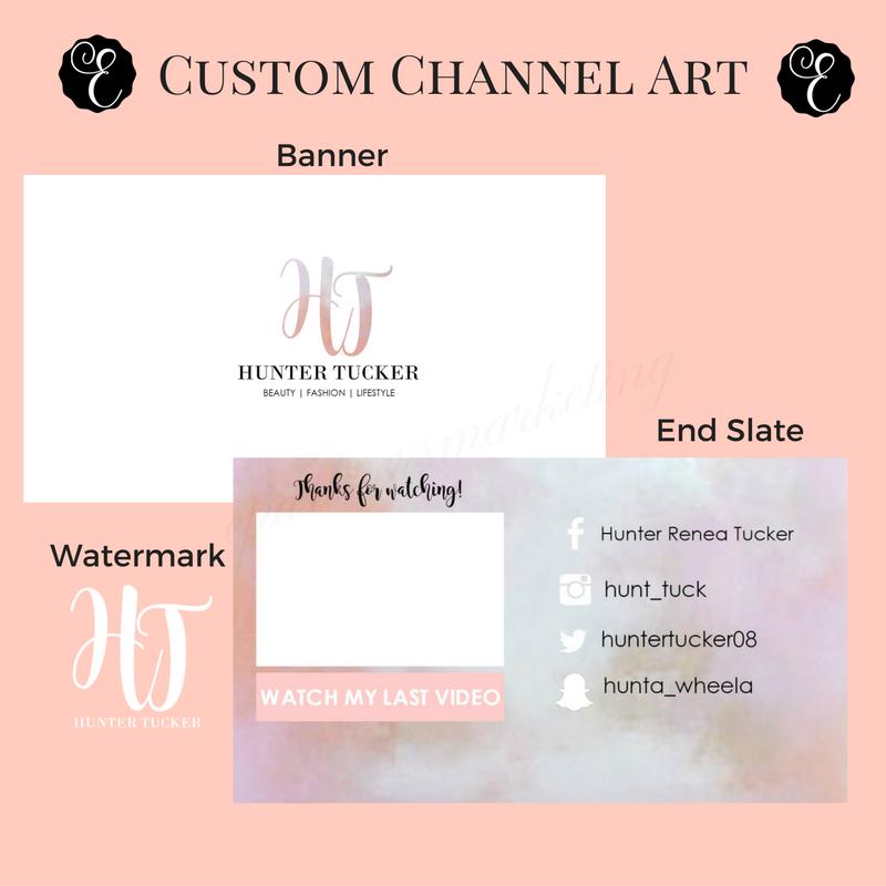 Custom YouTube Banner - EPartnersStudio on Etsy